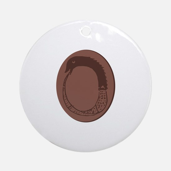 Ancient Greek Ouroboros Round Ornament