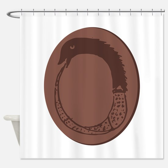 Ancient Greek Ouroboros Shower Curtain