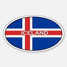 Icelandic stickers Oval Decal