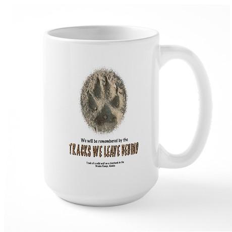 TRACKS WE LEAVE BEHIND Large Mug