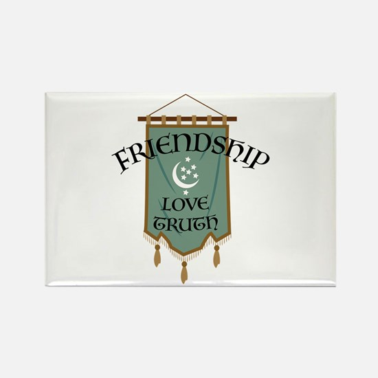 Friendship Love Truth Rectangle Magnet