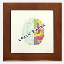 Brain Power Framed Tile