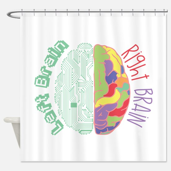 Left & Right Brain Shower Curtain