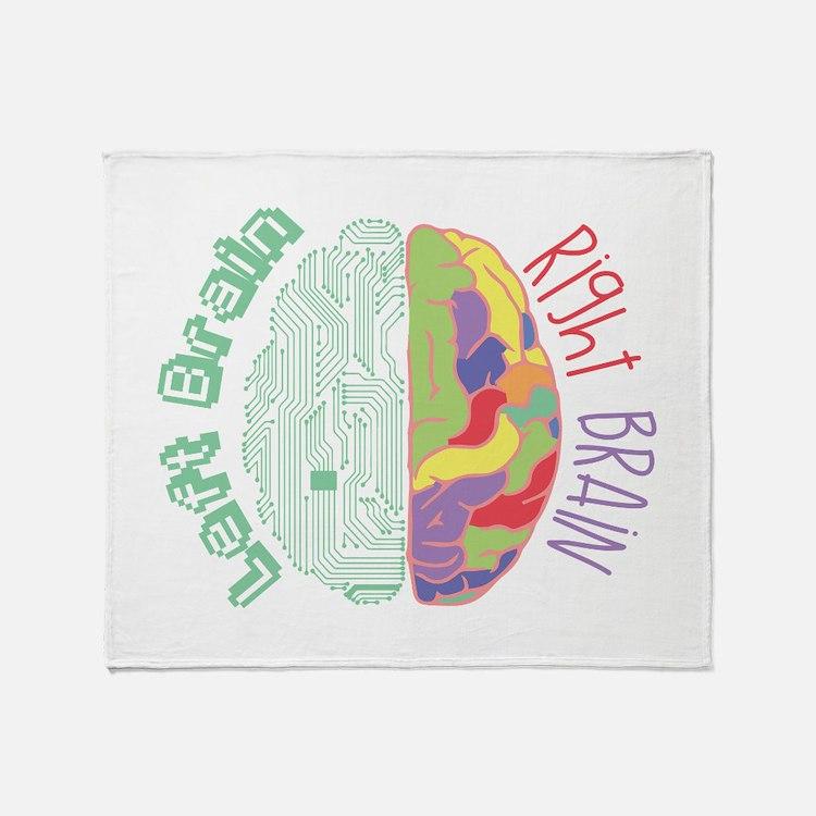 Left & Right Brain Throw Blanket