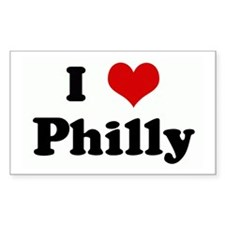 I Love Philly Rectangle Decal