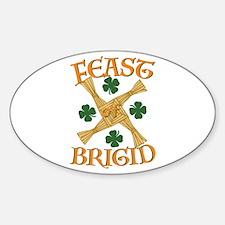 Feast Brigid Sticker (Oval)