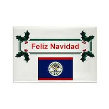 Belizean Feliz Navidad Rectangle Magnet