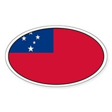 Samoan Decals Oval Decal