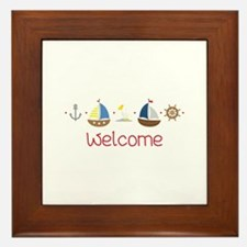 Nautical Welcome Framed Tile