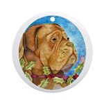 Red Mask Dogue de Bordeaux Ornament