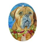 Black Mask Dogue de Bordeaux Holiday Ornament