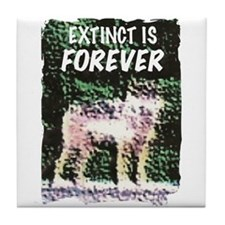 Extinct is Forever Tile Coaster