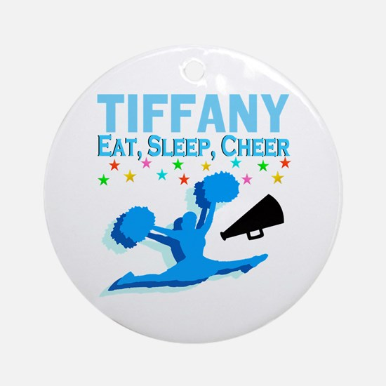 PERSONALIZED CHEER Round Ornament