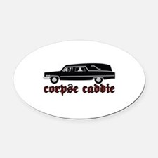 Corpse Caddie Oval Car Magnet