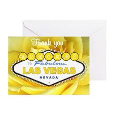 Las Vegas Thank you Yellow Rose Cards 10