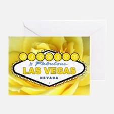Married in Las Vegas Yellow Rose Cards 10