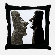 Unique Easter island heads Throw Pillow