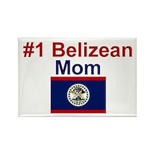 #1 Belizean Mom Rectangle Magnet