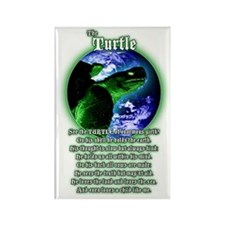 """The Turtle"" Guardian poem Rectangle Magnet"