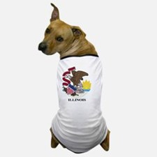 Cute Illinois flag Dog T-Shirt