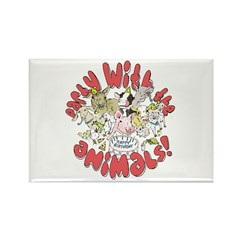 PARTY WITH THE ANIMALS Rectangle Magnet (100 pack