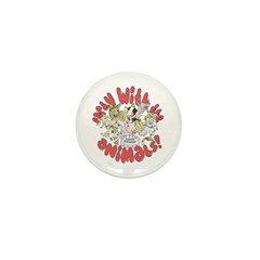 PARTY WITH THE ANIMALS Mini Button (10 pack)