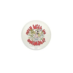 PARTY WITH THE ANIMALS Mini Button