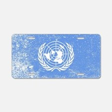 Cute United nations Aluminum License Plate