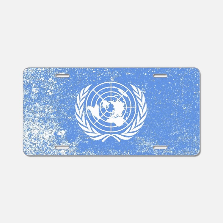 Cute Un flags Aluminum License Plate