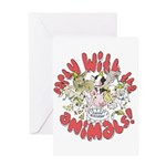 PARTY WITH THE ANIMALS Greeting Card