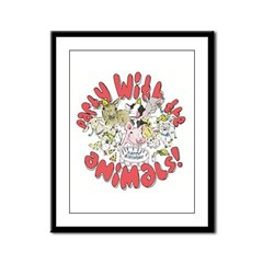 PARTY WITH THE ANIMALS Framed Panel Print