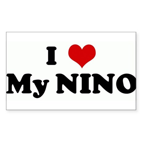 I Love My NINO Rectangle Sticker