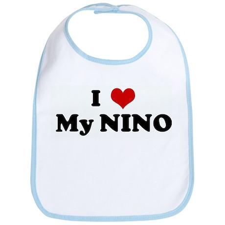 I Love My NINO Bib