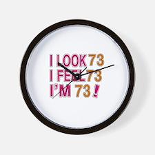 I Look 73 Wall Clock
