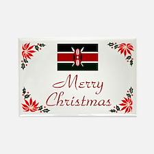 Kenya-Merry Christmas Rectangle Magnet