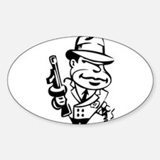 Mobster toon Decal