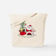 First Christmas Santa & Baby Tote Bag