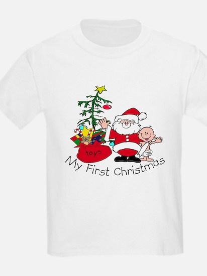 First Christmas Santa & Baby T-Shirt