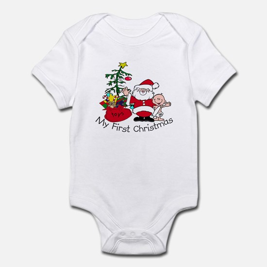 First Christmas Santa & Baby Infant Bodysuit