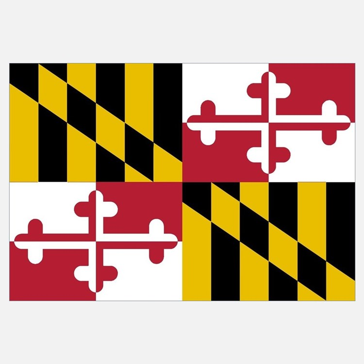 Cute Maryland art Wall Art