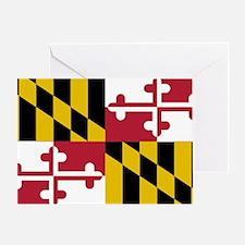 Funny Maryland flag Greeting Card