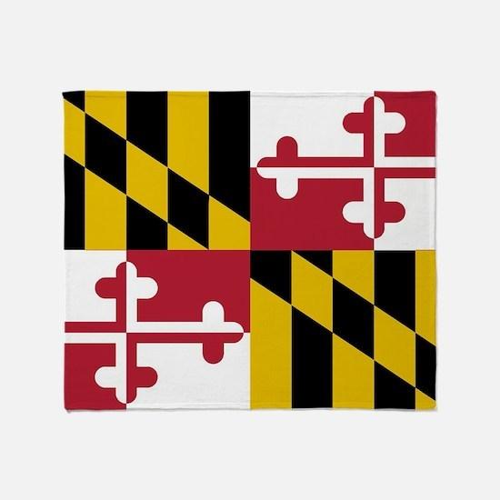 Funny Maryland flag Throw Blanket