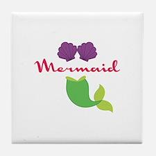 Mermaid Bikini Tile Coaster