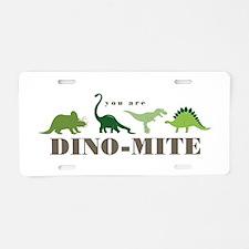 Dino-Mite Aluminum License Plate