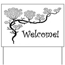 """Dogwood"" Welcome Yard Sign"