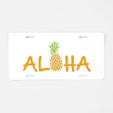 Aloha Pineapple Aluminum License Plate
