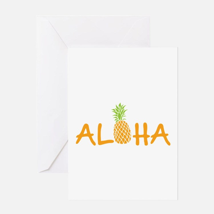 Aloha Pineapple Greeting Cards