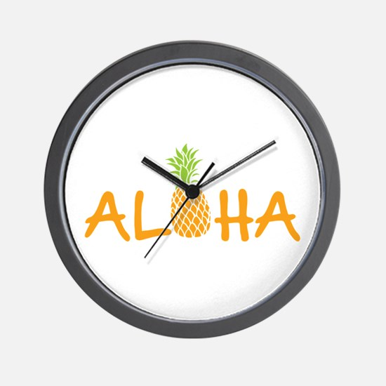 Aloha Pineapple Wall Clock