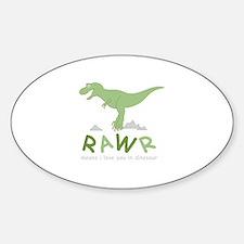 Dinosaur Rawr Decal