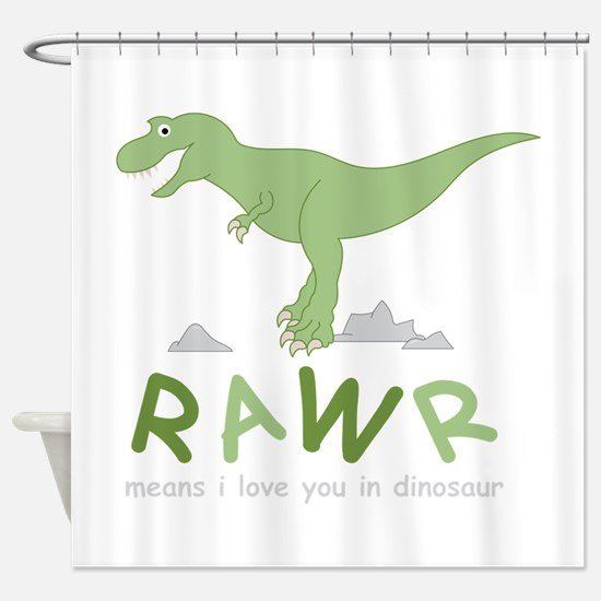 Dinosaur Rawr Shower Curtain